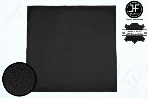 BLACK LEATHER 50cm x 50cm QUALITY TOP GRAIN GENUINE LEATHER CRAFTS AUTOMOTIVE