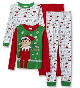 Elf on the Shelf Little Girls  Sweet Elf Cotton Pajama Set