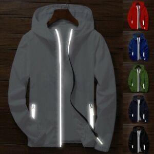 Waterproof-Windbreaker-Zipper-Jacket-Men-039-s-hoodie-Light-Sports-Outwear-Coat-Gym
