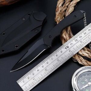 6-5-034-Fixed-Blade-Straight-Tactical-Military-Pocket-EDC-Hunting-Knife-With-Sheath