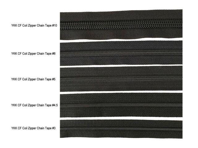 """YKK  # 8 DFL SLS Long Pull Sliders for YKK Coil Zipper  10 color /""""Nickel/"""""""