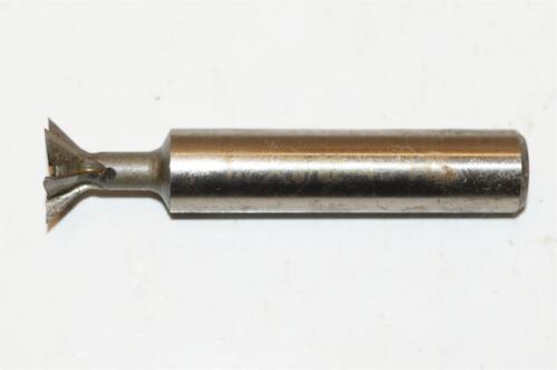 """NEW 1//2/"""" EMDT HSS End mill 45° 45 Degree Dovetail cutter 3//8/"""" shank"""