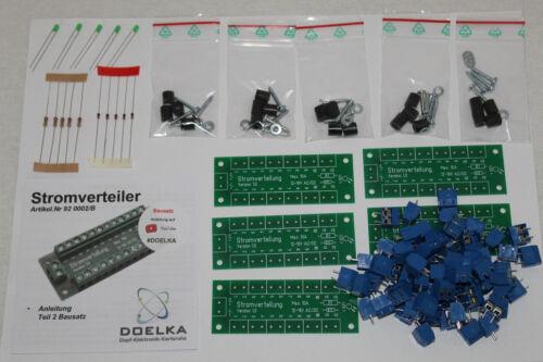 Stromverteiler mit Status LED 12-16V AC//DC,10A  5 Stück Bausatz !