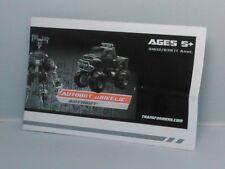 2009 Transformers ROTF Revenge of the Fallen Autobot Wheelie Figure Instructions