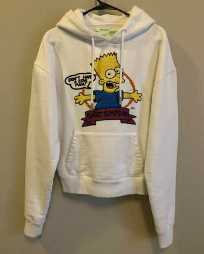 Off-White Hoodie 100% Authentic Bart Simpson White