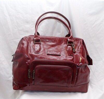 LONGCHAMP Legende Red Bag Patent Leather Handbag Purse Large Doctor Bag  $995   eBay