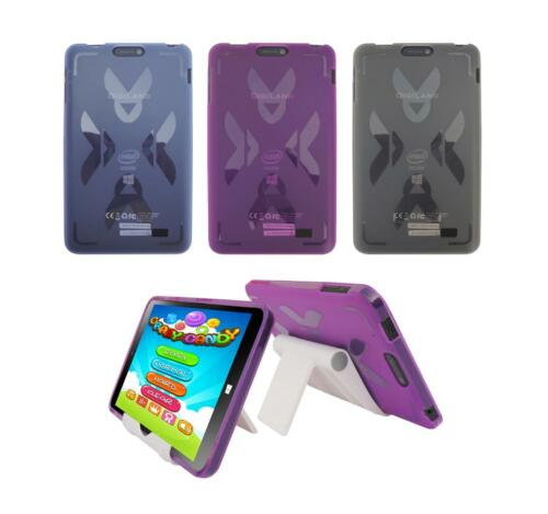 "View Stand Holder TPU Gel Skin Case Cover for DigiLand DL808W 8/"" Win 10 Tablet"