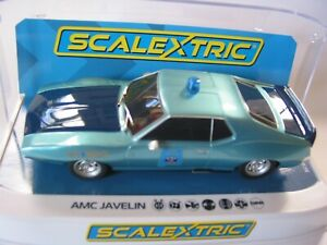 Scalextric-C4058-AMC-Javelin-Alabama-Policia-Coche-Nuevo-y-en-caja-compuesta