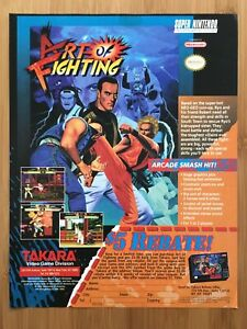 Art Of Fighting Snes Super Nintendo 1993 Vintage Video Game Print Ad Poster Art Ebay