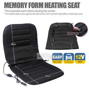 Car Heated Memory Form Cushion Hot Seat Cover Heater Pad DC12V 1P For HONDA