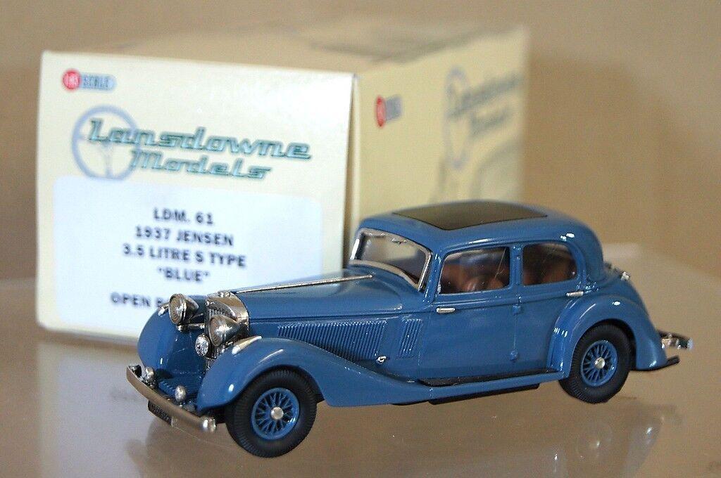 Lansdowne modelli ldm61 1937 Jensen 3,5 LITRI S TIPO BERLINA BLU MINT BOXED MX