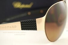 Brand New Chopard Sunglasses SCH 873 8FCP Rose Gold-Black/Brown Polarized