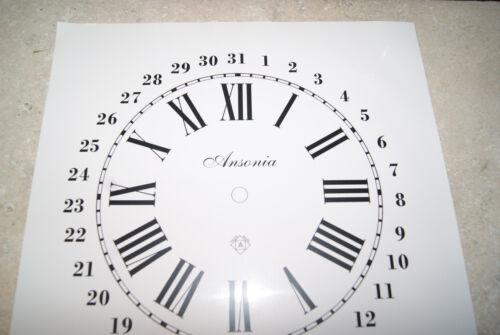 ONE ANSONIA CALENDAR CLOCK PAPER DIAL WHITE DIAL