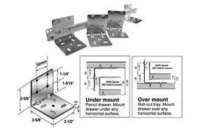Universal L Mounting Brackets for base mounting pull out shelves sliding shelf