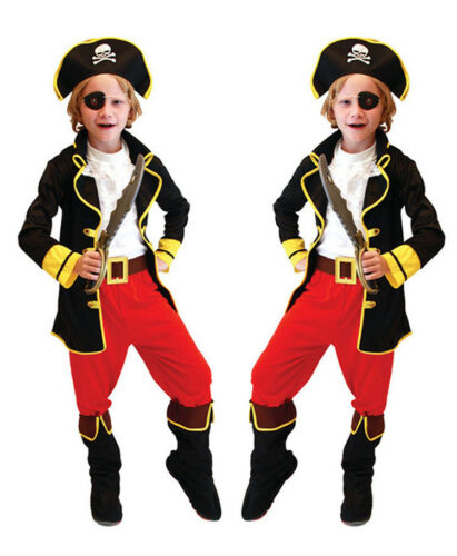 Kids Children Pirates Caribbean Halloween Party Cosplay Costume Fancy Dress Set