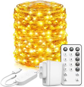 Govee Led Fairy Lights Bedroom 66 Feet Fairy Lights Plug In 200 Leds Remote Co 7445032288225 Ebay