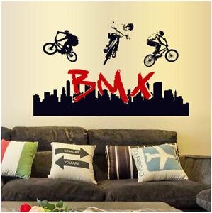 Wandtattoo bmx fahrrad junge sport jugendzimmer - Kinderzimmer wandtattoo junge ...