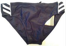 ADIDAS Ragazzi Nuoto BAULI SLIP UK taglia 28 Extra Small Nero / Bianco Nuovo
