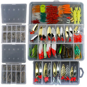 226-Fishing-Lures-Spinners-Set-Spoons-Crank-Baits-Frogs-Pike-Trout-Bass-Salmon