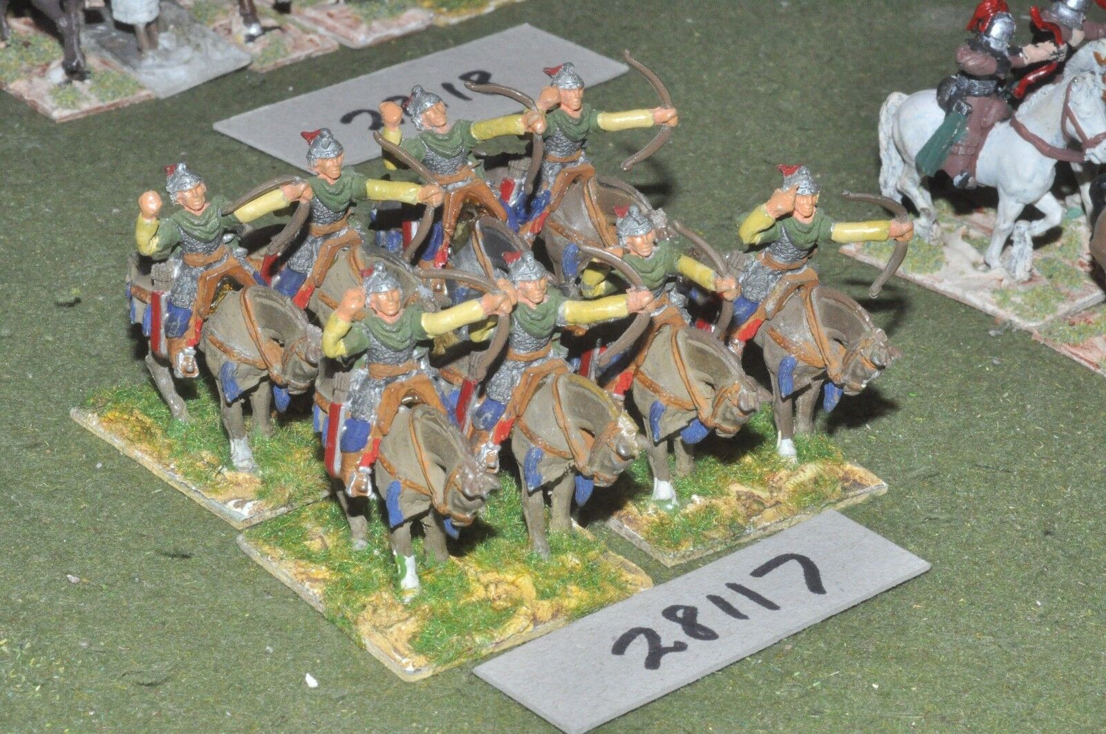25mm dark ages   byzantine - horse archers 8 figures - cav (28117)