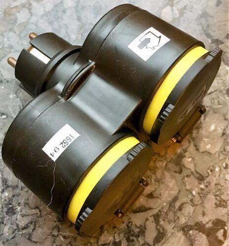 EF Steckdose GUMMI Doppel Schuko STECKER Kupplung 220V,Schutzkontaktkupplung XX
