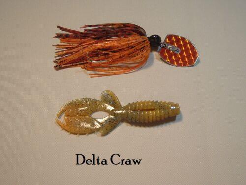 3//8oz Quick Change Skirt.Bass Qty.1 QC3-Delta Craw Shaker Bass Bait