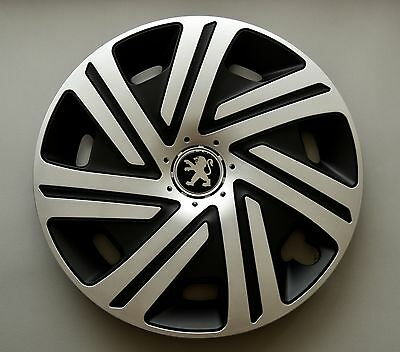 "15"" Peugeot 207,308, Partner, 306,605... Copricerchi/coperchi, Tappi, Quantità 4-r,306,605... Wheel Trims / Covers, Hub Caps,quantity 4 It-it"