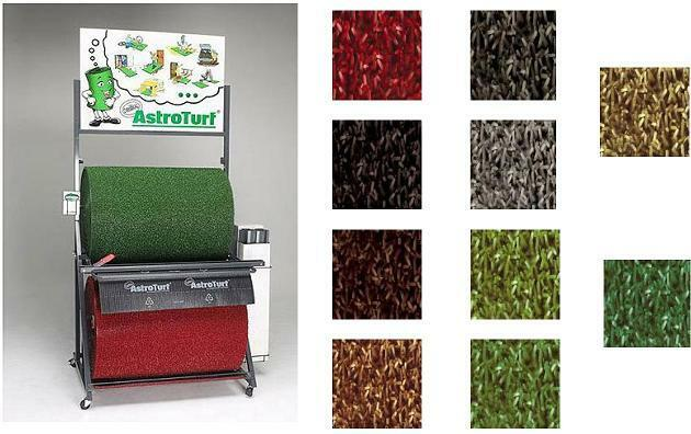 Kunstrasen Astroturf robust Außenmatte grün grau rot braun schwarz meterware