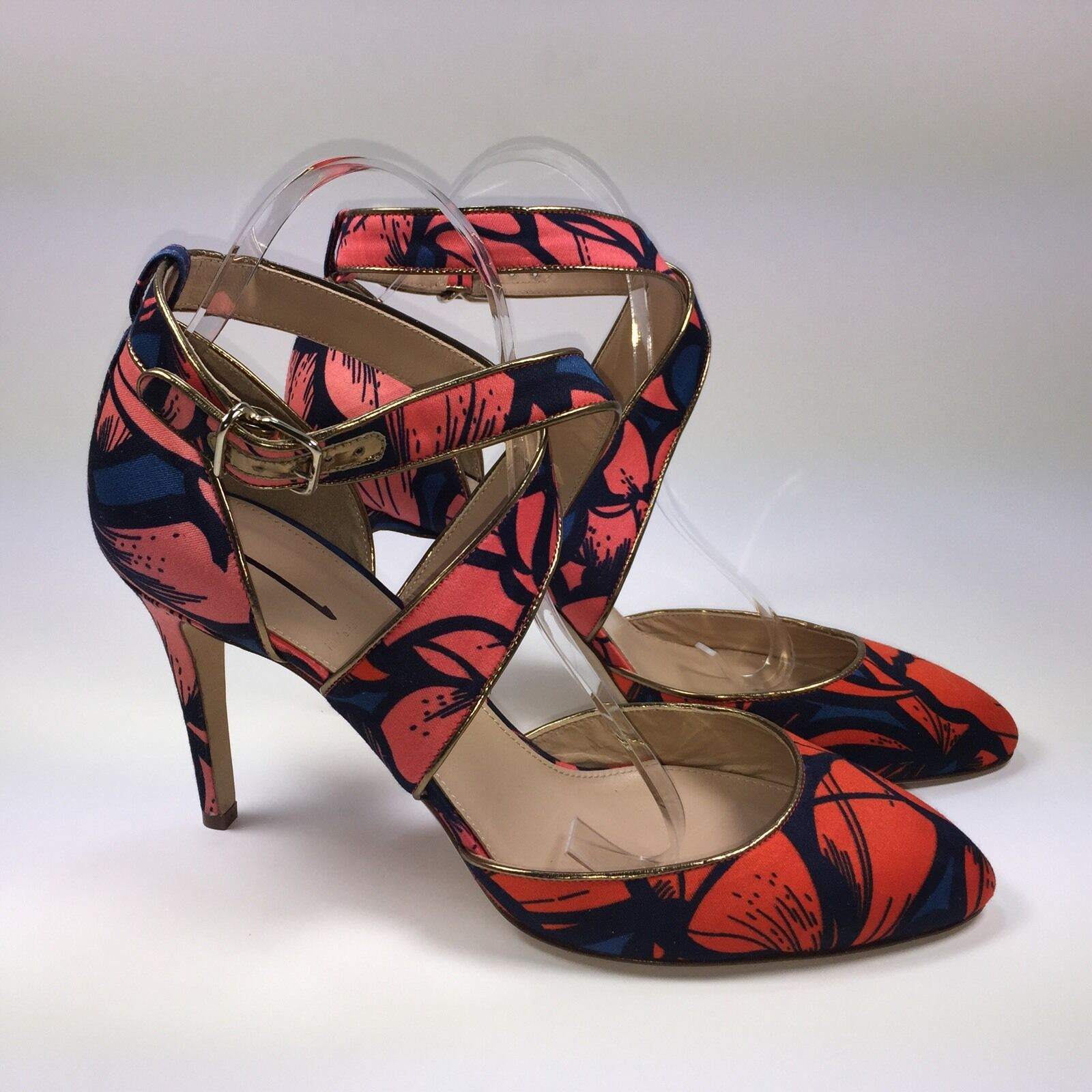 J.Crew J.Crew J.Crew Collection Sloane Printed Crisscross Pumps Sz.9.5  298 f94c28