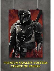 Star Wars The Mandalorian Large Poster Art Print Gift A0 A1 A2 A3 Maxi