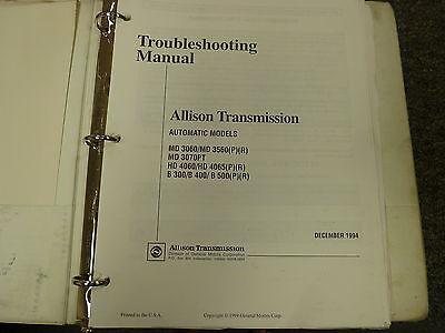 Allison B300 B400 B500 P R Transmission Service Repair
