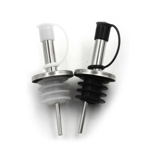 Stainless Steel Wine Olive Oil Liquor Free Flow Bottle Pourer Dispenser Spout IJ