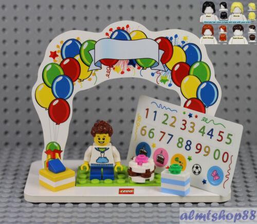 LEGO Birthday Set w// Boy Minifigure /& Presents Cake Topper Table Centerpiece