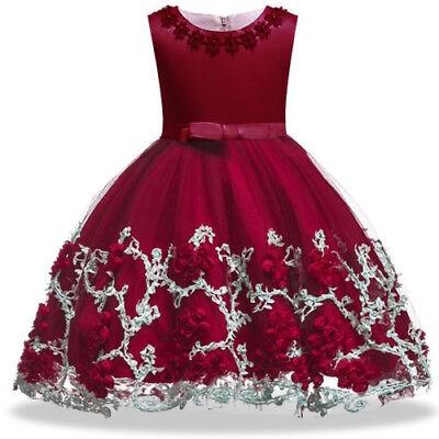 Vestidos Ropa De Moda Para Niña Largos Casuales Elegante Verano Encaje Vestido Ebay