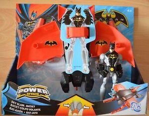 Mattel-Batman-Power-Attack-Sky-Slam-Batjet-Batman-Figur-W7276-Spielzeug-Kinder