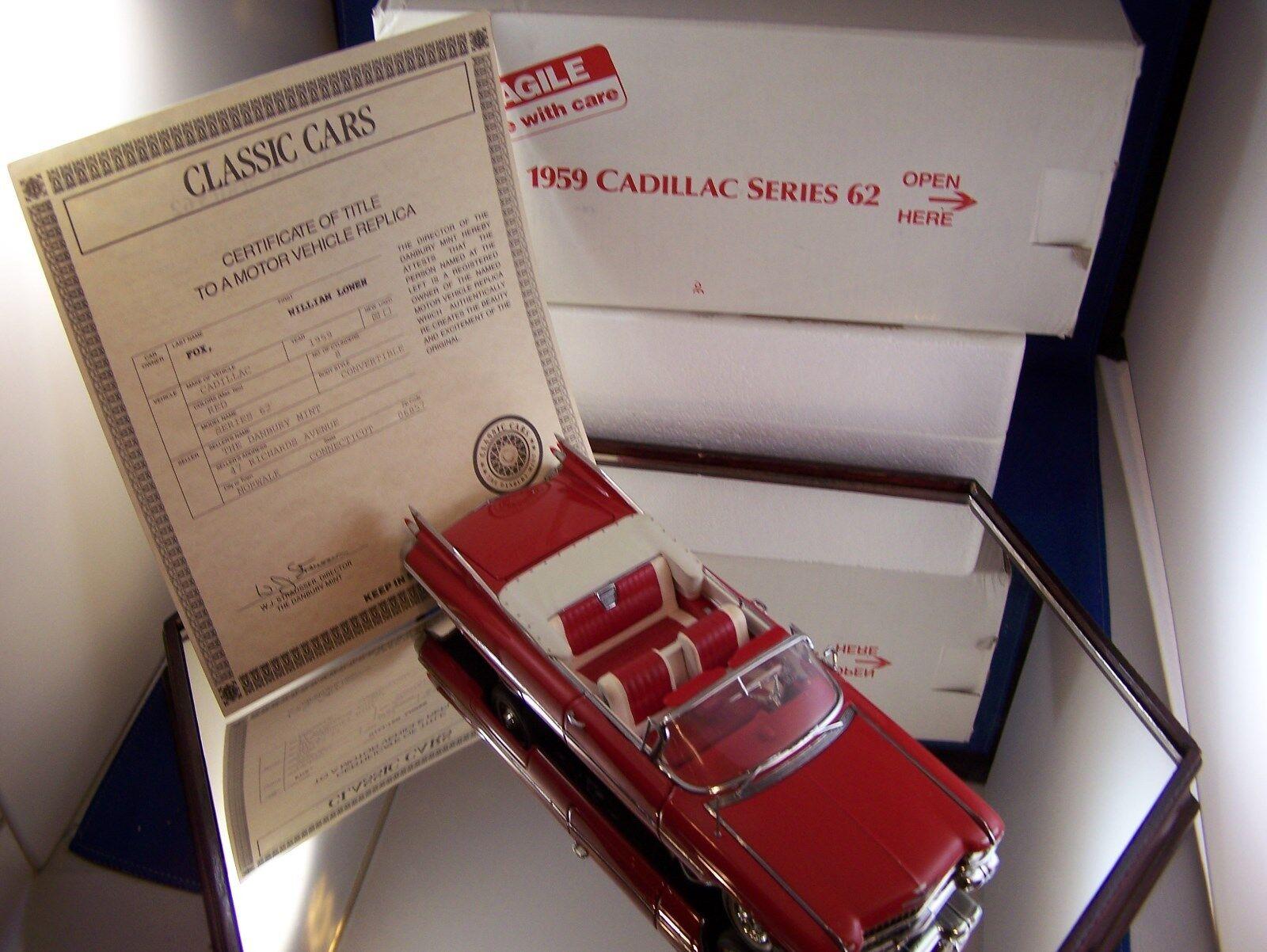 Von mint1959 roten cadillac series 62 konGrünible 1   24 skala kiste einige docs