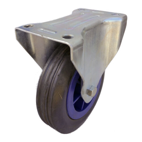 """5/"""" Fixed Solid Rubber Caster"""