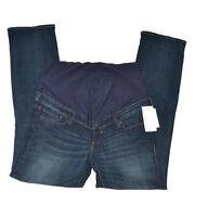 Maternity H&m Mama Denim Stretch Long Straight High Rib Jean Pant 4 6 8 10 12 14