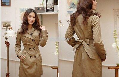 Women Warm Winter Trench Coat Parka Overcoat Long Jacket Windbreaker Outwear E56