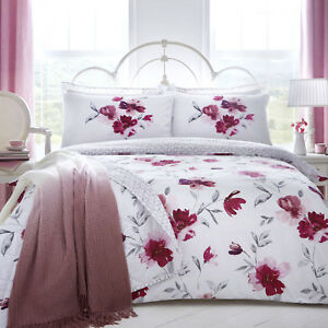Dreams-amp-Drapes-CELESTINE-Blush-Pink-Floral-Duvet-Cover-Set-Bedding