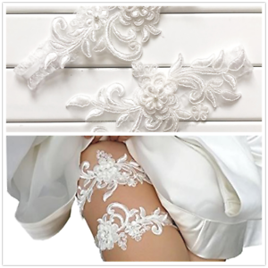 351bbfc113c 2Pcs Set Bridal Wedding Garter Lace Garter Flower Rhinestone Prom ...