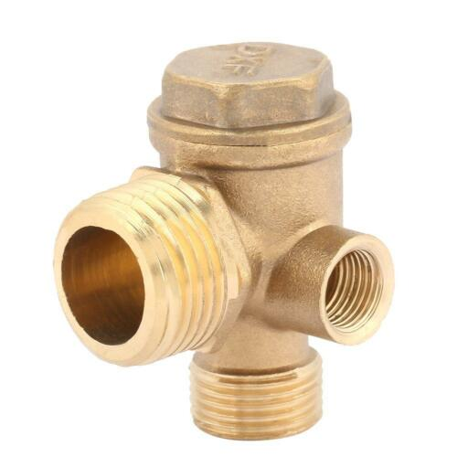 3 Port Brass Air Compressor Male Threaded Check Valve Tube Connector Tool
