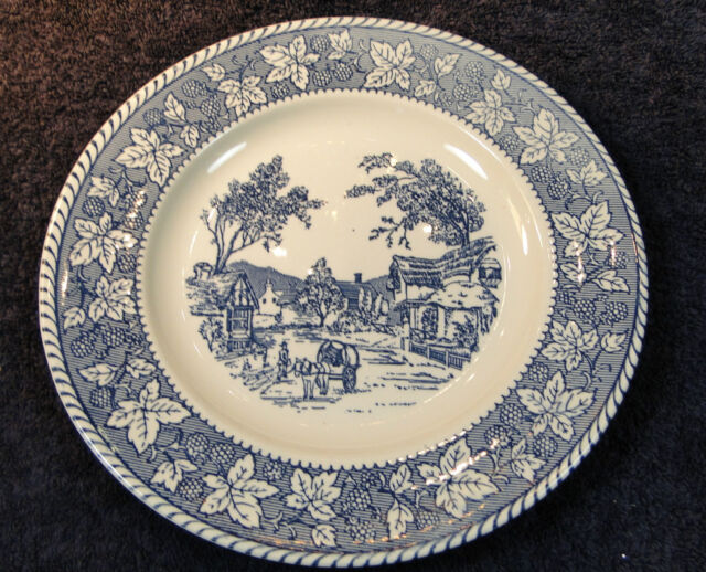 """Homer Laughlin Shakespeare Country Dinner Plate 10 1/4"""" Stratwood Collection"""