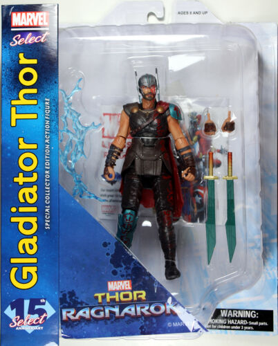 ~ Thor MOVIE VERSION Marvel Select ~ GLADIATOR THOR ACTION FIGURE Ragnarok
