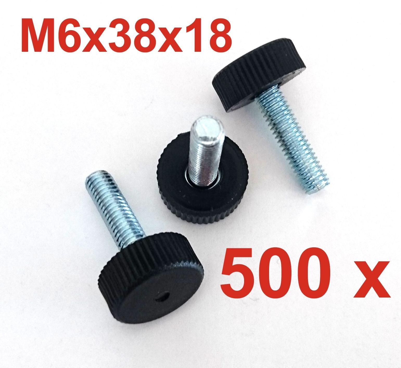 500x M6x38x18 Stellfuß Verstellfuß Möbelfuß Stellschraube Stellteller Stellteller Stellteller | Qualität Produkt  | Die erste Reihe von umfassenden Spezifikationen für Kunden  679de5