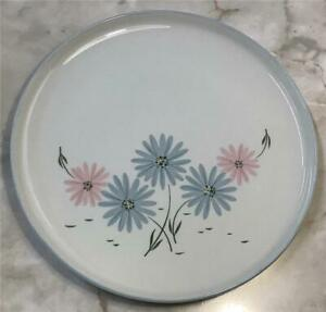 """Franciscan Maytime SALAD PLATE(s) 8-1/2"""" Gladding McBean & Co Pink Blue Flowers"""