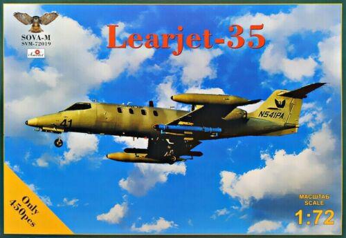"Sova Modelo 72019 Jato De Negócios /""Learjet Escala 35/"" plástico modelo kit 1//72"