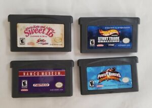 Nintendo Game Boy Advance GBA Lot of 4 Games Namco Museum Hot Wheels Etc