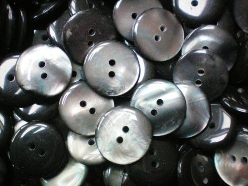 20mm 32L gris foncé coque effet nacré 2 trous à coudre qualité boutons W161