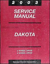2002 Dodge Dakota Service Manual OEM Dealer Repair Shop Book ...